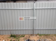 Забор из профнастила установка под ключ