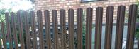 Забор из металлического штакетника цена минск под ключ